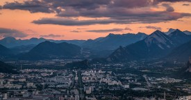 Coucher de soleil sur Grenoble