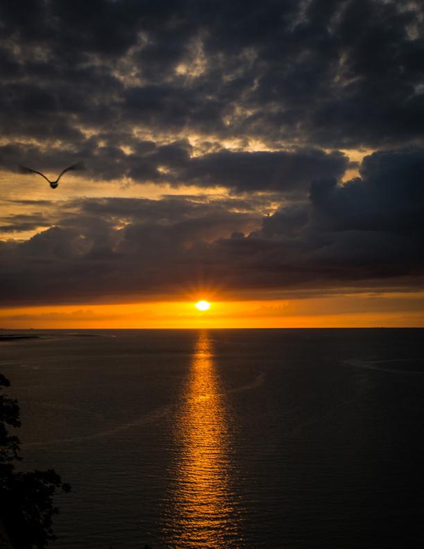 Lever du soleil au Mont Saint-Michel