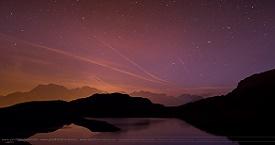 Lac besson sous les étoiles
