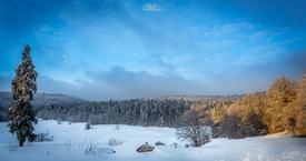 Première neige sur le Vercors