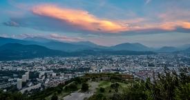 Grenoble - coucher du soleil