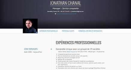 CV Jonathan CHANAL